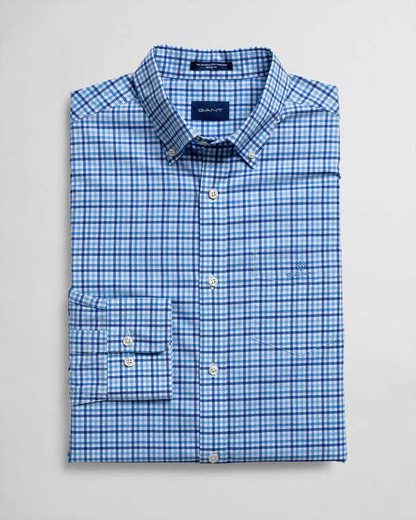 Gant, THE BC 3 COL GINGHAM, PACIFIC BLUE